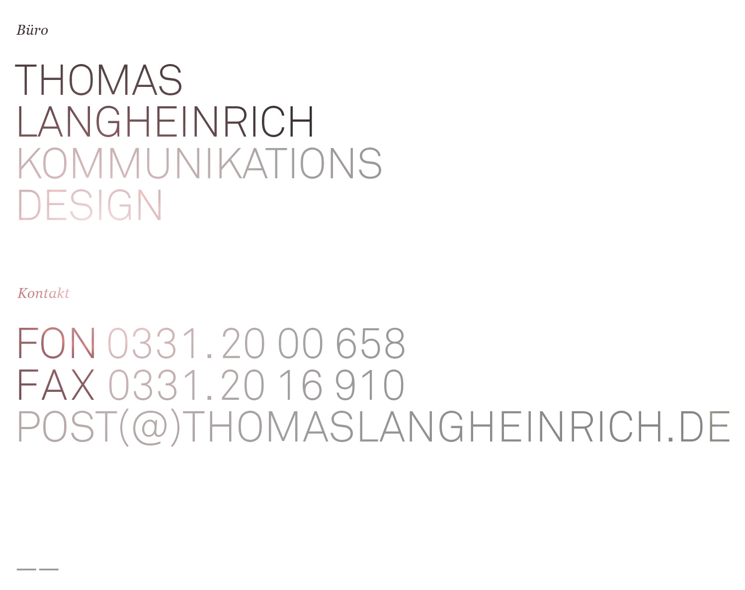 THOMAS LANGHEINRICH · KOMMUNIKATIONSDESIGN